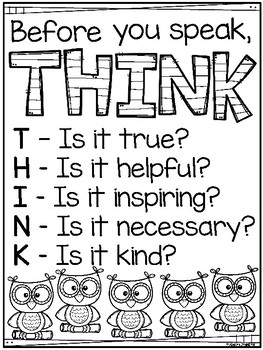 Think Poster Owl Themed