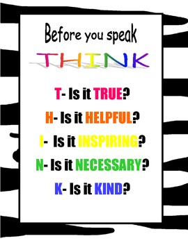 Think Poster- Zebra and Bright colors