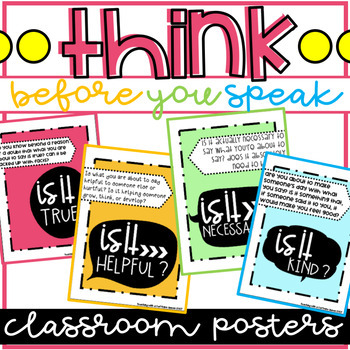 Think Posters: Think Before You Speak Posters - Colorful