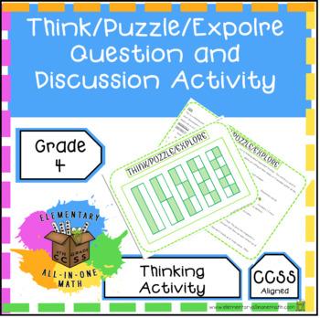 Think Puzzle Explore Question & Discussion for Equivalent Fraction Activity