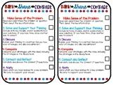 Think-Share-Compare Checklist