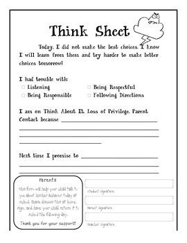 Think Sheet