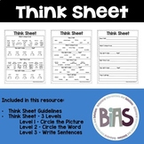 Think Sheet for Behavior Reflection