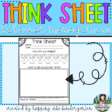 Think Sheet - A Behavior Management Tool