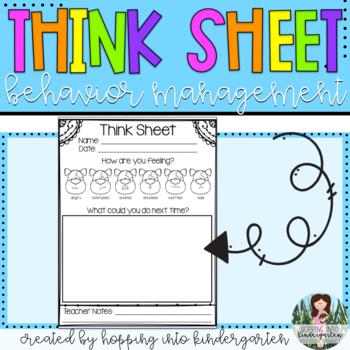 Think Sheet - A Behavior Management Tool