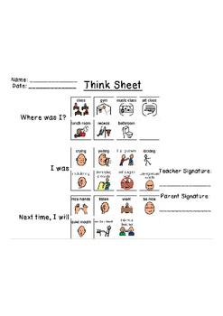Think Sheet (Behavior Documentation)