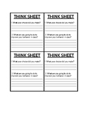 Think Sheet Behavior Reflection