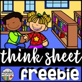 Think Sheet - Classroom Management