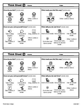 Think Sheet- Emojis