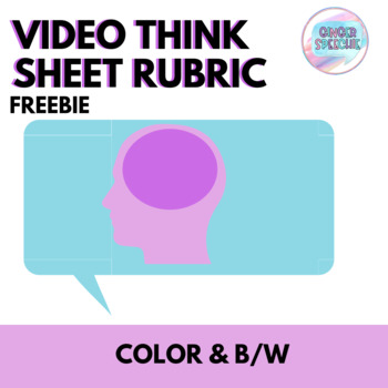 Think Sheet Video Rubric