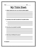 Think Sheet Writing Template