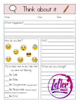 Think Sheet with Emojis (editable)