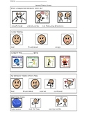 Think Sheet with Zones of Regulation