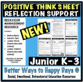 THINK SHEETS JUNIOR K-3 - Behaviour Management