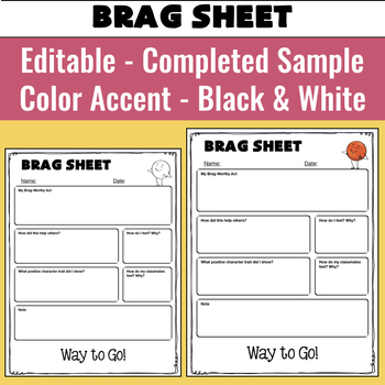 Think Sheets and Brag Sheets for Positive Discipline