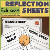 Editable Behavior Reflection Sheets for Positive and Negative Behaviors