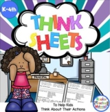 Think Sheets to Help Kids Think About Their Actions