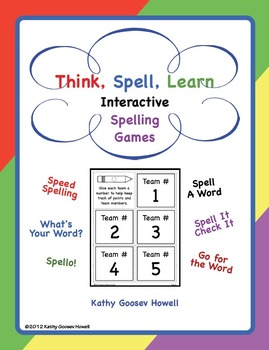 Think, Spell, Learn - Interactive Spelling Games