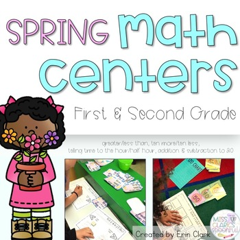 Think Spring! {5 Spring Themed Math Tub Activities}