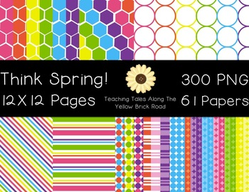 Think Spring! Digital Papers & Accent Pack {Personal & Commercial Use}