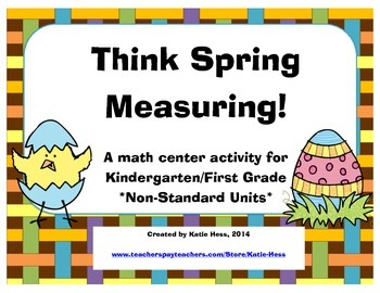 Think Spring Measuring! (Non-Standard Units)