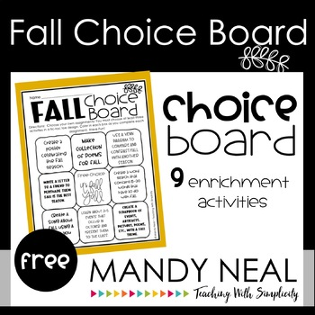 Think Tac Toe - All About Fall