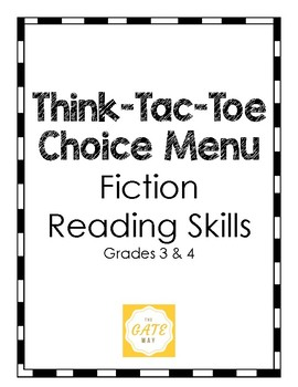 Think-Tac-Toe Choice Menu, Fiction Reading Skills (3-4)