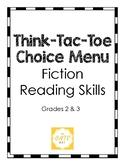 Think-Tac-Toe Choice Menu, Fiction Reading Skills (Grades 2-3)