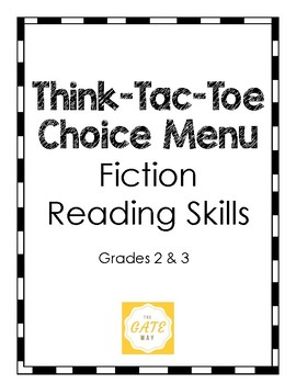 Think-Tac-Toe Choice Menu, Fiction Reading Skills (Grades 2-3)