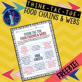 Think Tac Toe - Food Chains & Webs