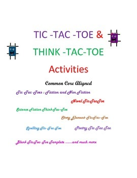 Think -Tac- Toe- Tic- Tac- Toe  Differentiated Activities