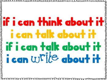 Think, Talk, Write Printable