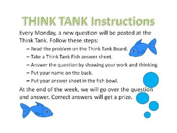 Think Tank Question of the Week