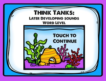 Think Tanks: Later Developing Sounds