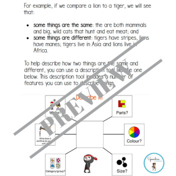 Think, Then Write (Volume 4a): a no-prep workbook to compare and contrast things