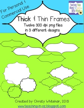 Think & Thin--Black Frames for Personal or Commerical Use
