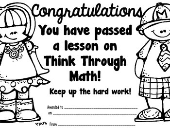 Think Through Math Lessons Passed Certificates