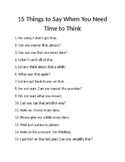 Think Time (FREEBIE)