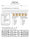 Think Time - Behavior Reflection Sheet (1-2) No theme