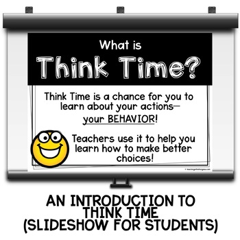 Think Time | Think Sheet | Behavior Management