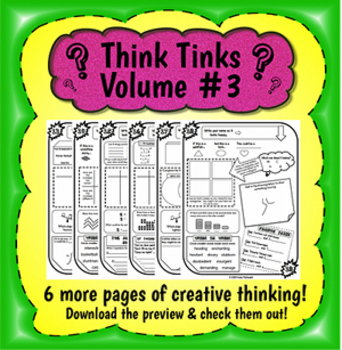 Think Tinks - Volume 3 - Creative and Logical Thinking Problems