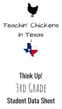 Think Up 3rd Grade ELAR Student Data Sheet