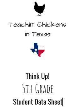 Think Up! 5th Grade Student Data Sheet