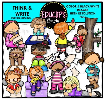 Think & Write Clip Art Bundle {Educlips Clipart}