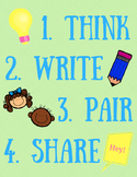 Think, Write, Pair, Share Poster