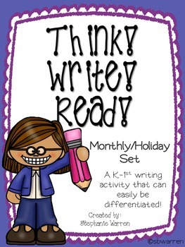 Think! Write! Read! - Monthly/Holiday Version