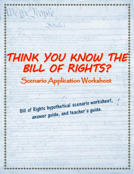 Think You Know Your Rights A Bill Of Rights Critical Thinking Worksheet