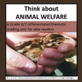Think about ANIMAL WELFARE