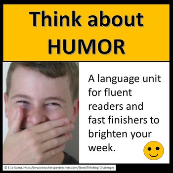 Literacy Center activities: Think about HUMOR/ HUMOUR