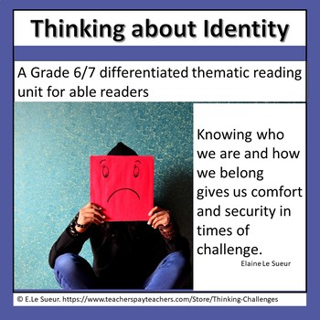 Literacy Center Activities: Think about IDENTITY